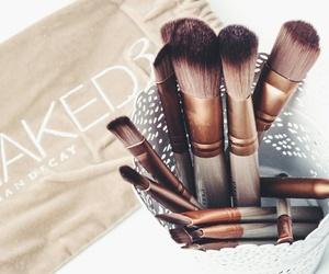 Brushes, make-up, and makeup image