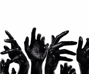 black, hands, and art image