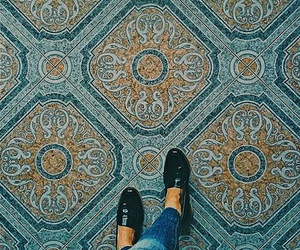 shoes, floor, and pattern image