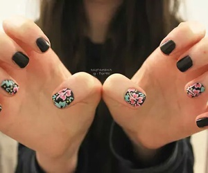 nails, floral, and girl image