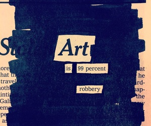 art, blackout, and newspaper image