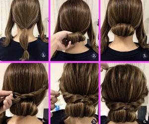 braid, hair tutorial, and diy image