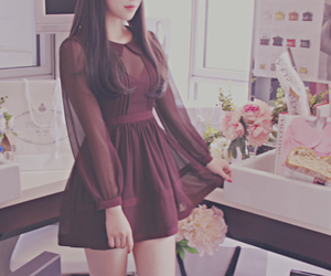 dress, cute, and kfashion image
