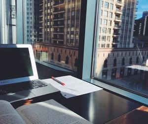 study, city, and school image