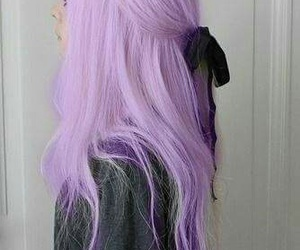 hair, lightpurple, and long image