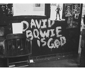david bowie and black and white image