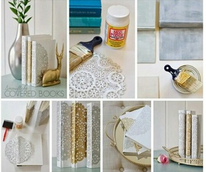 book, diy, and gold image