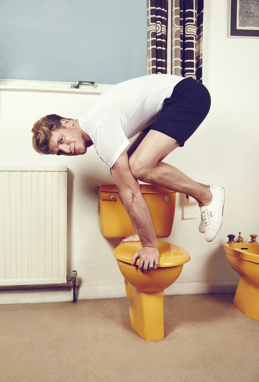 exercise, funny, and toilet image