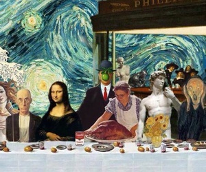 art, Leonardo da Vinci, and van gogh image