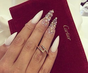 nails, cartier, and luxury image