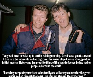 david bowie and Paul McCartney image