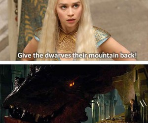 game of thrones, dragon, and the hobbit image
