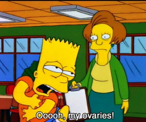bart, simpsons, and ovaries image