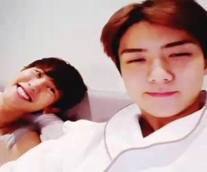 kpop, korean boys, and sehun image
