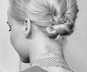 black and white, Jennifer, and braid image