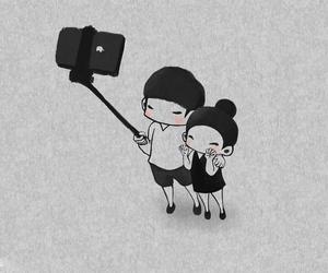 selfie, cute, and love image