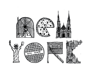 new york, text, and pizza image