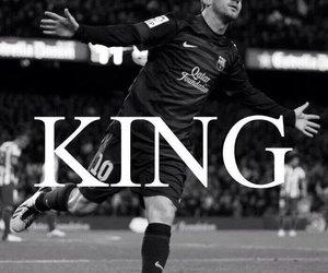 messi, king, and football image