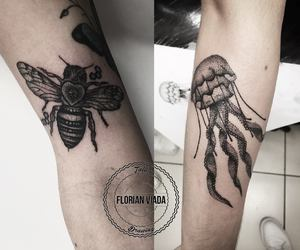 bee, florian, and inked image