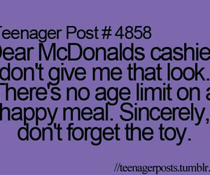 post, happy meal, and teenager post image