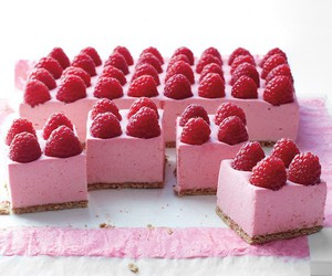 raspberry, food, and cake image
