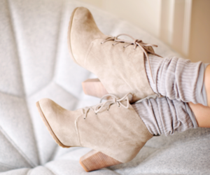 boots, girly, and socks image
