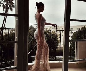 beauty, dress, and golden image