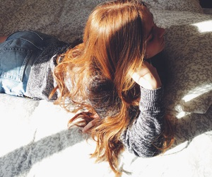 bed, ginger, and hair image