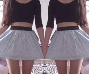pale, skirt, and hipster image