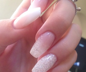nails, glitter nails, and new trends image