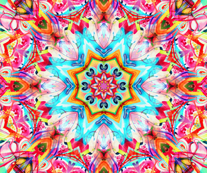 beautiful, colored, and mandala image