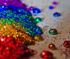 glitter, rainbow, and sparkle image