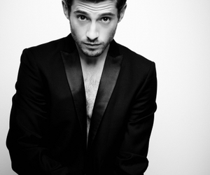 julian morris, black and white, and sexy image