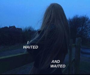 grunge, waiting, and love image