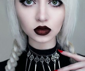 hair, grunge, and goth image