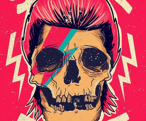 bowie, design, and skull image