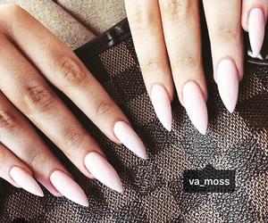 Louis Vuitton, nails, and pink image
