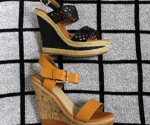wedges, black wedges, and brown wedges image