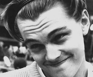 leonardo dicaprio, black and white, and Leo image