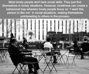 alone, fact, and loneliness image