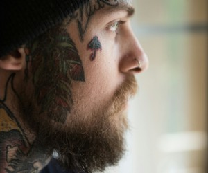bearded, tattoo, and beard image