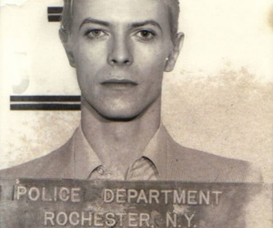david bowie, mugshot, and bowie image