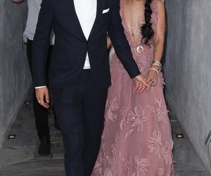 couple, vanessa hudgens, and dress image