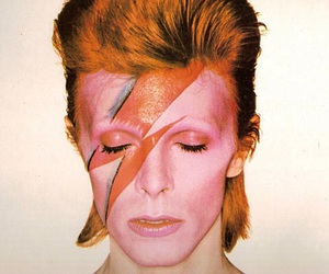 bowie, david bowie, and lightning bolt image