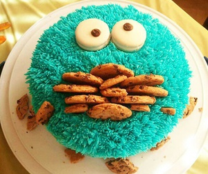 cake, blue, and Cookies image