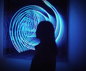 art, girl, and neon image