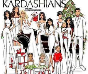 christmas, kardashians, and kim kardashian image
