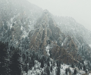 landscape, snow, and white image