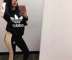 addidas, black, and mirror image