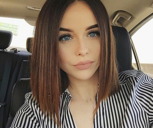 cut hair, girl, and style image